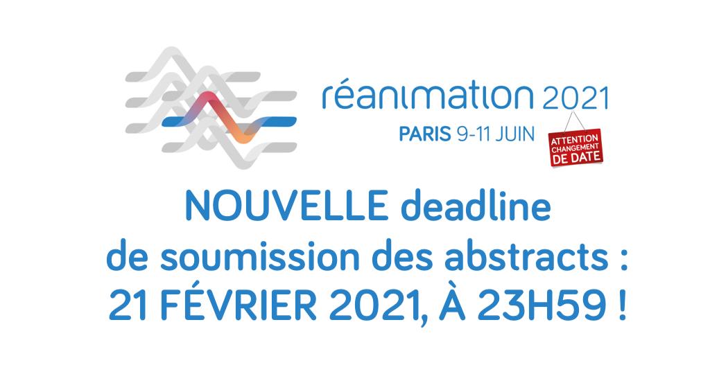 #REA2021 - Report de la deadline pour la soumission des abstracts !